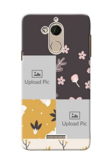 Coolpad Note 5 3 image holder with florals Design