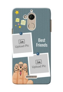 Coolpad Note 5 3 image holder with sticky frames and friendship day wishes Design
