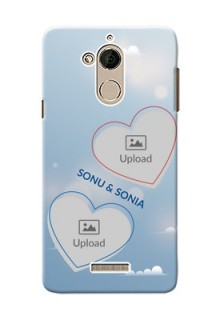 Coolpad Note 5 couple heart frames with sky backdrop Design
