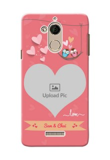 Coolpad Note 5 heart frame with love birds Design