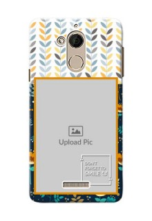 Coolpad Note 5 seamless and floral pattern design with smile quote Design