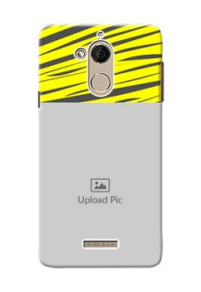 Coolpad Note 5 yellow abstract stripes Design