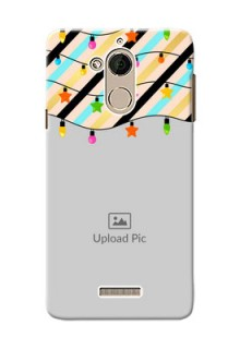 Coolpad Note 5 diagonal stripped pattern with hanging lights Design