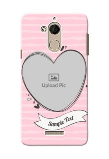 Coolpad Note 5 seamless stripes with vintage heart shape Design