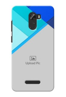 Gionee A1 Lite Blue Abstract Mobile Cover Design