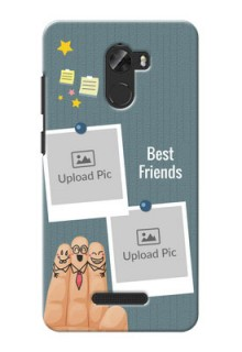 Gionee A1 Lite 3 image holder with sticky frames and friendship day wishes Design