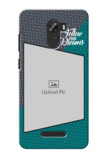 Gionee A1 Lite 2 colour background with different patterns and dreams quote Design