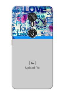 Gionee A1 Colourful Love Patterns Mobile Case Design