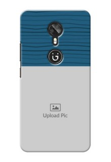 Gionee A1 Blue Pattern Mobile Case Design