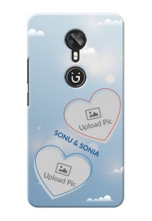 Gionee A1 couple heart frames with sky backdrop Design