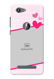 Gionee F103 Pro Pink Design With Pattern Mobile Cover Design