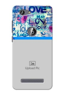 Gionee F103 Pro Colourful Love Patterns Mobile Case Design
