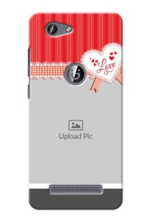 Gionee F103 Pro Red Pattern Mobile Cover Design