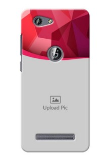 Gionee F103 Pro Red Abstract Mobile Case Design