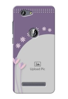 Gionee F103 Pro lavender background with flower sprinkles Design