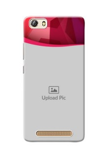 Gionee Marathon M5 Lite Red Abstract Mobile Case Design