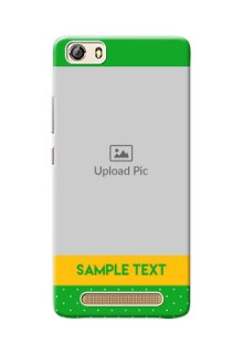 Gionee Marathon M5 Lite Green And Yellow Pattern Mobile Cover Design
