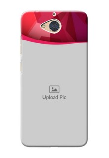 Gionee S6 Pro custom mobile back covers: Red Abstract Design