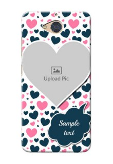 Gionee S6 Pro Mobile Covers Online: Pink & Blue Heart Design