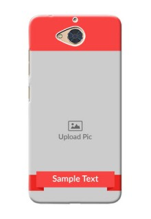 Gionee S6 Pro Personalised mobile covers: Simple Red Color Design