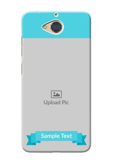 Gionee S6 Pro Personalized Mobile Covers: Simple Blue Color Design