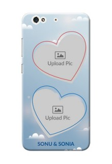 Gionee S6 couple heart frames with sky backdrop Design