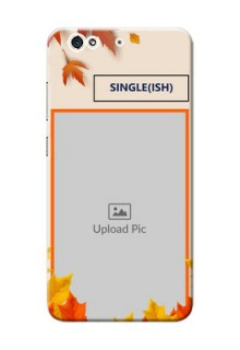 Gionee S6 autumn maple leaves backdrop Design