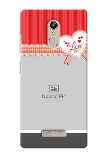 Gione S6s Red Pattern Mobile Cover Design