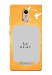 Gionee S6s watercolour design with bird icons and sample text Design Design