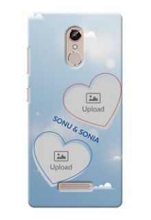 Gionee S6s couple heart frames with sky backdrop Design