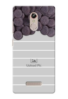 Gionee S6s oreo biscuit pattern with white stripes Design Design