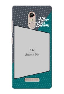 Gionee S6s 2 colour background with different patterns and dreams quote Design Design