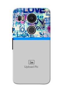 Google Nexus 5X Colourful Love Patterns Mobile Case Design