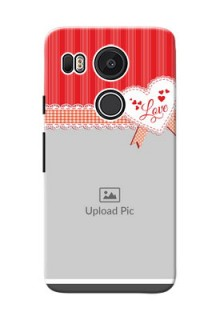 Google Nexus 5X Red Pattern Mobile Cover Design