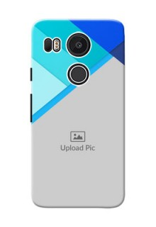 Google Nexus 5X Blue Abstract Mobile Cover Design