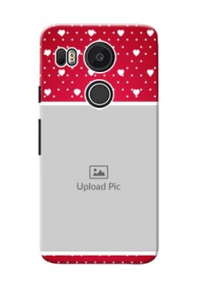 Google Nexus 5X Beautiful Hearts Mobile Case Design