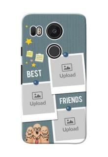 Google Nexus 5X 3 image holder with sticky frames and friendship day wishes Design