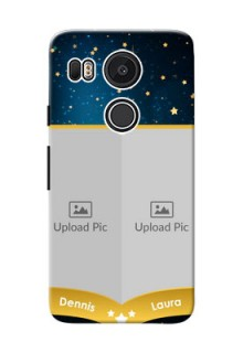 Google Nexus 5X 2 image holder with galaxy backdrop and stars  Design