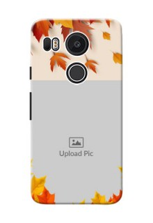 Google Nexus 5X autumn maple leaves backdrop Design