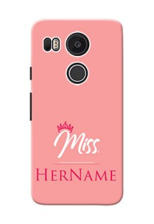 Google Nexus 5X Custom Phone Case Mrs with Name