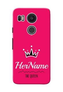 Google Nexus 5X Queen Phone Case with Name