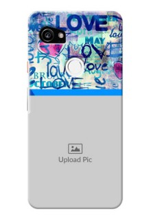Google Pixel 2 XL Mobile Covers Online: Colorful Love Design