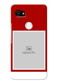 Google Pixel 2 XL mobile phone covers: Simple Red Color Design