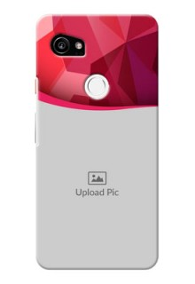 Google Pixel 2 XL custom mobile back covers: Red Abstract Design