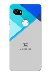 Google Pixel 2 XL Phone Cases Online: Blue Abstract Cover Design