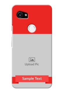 Google Pixel 2 XL Personalised mobile covers: Simple Red Color Design