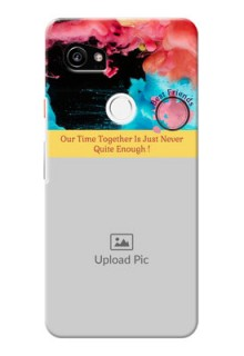 Google Pixel 2 XL Mobile Cases: Quote with Acrylic Painting Design