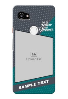 Google Pixel 2 XL Back Covers: Background Pattern Design with Quote