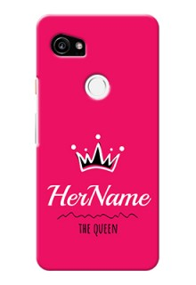 Google Pixel 2 Xl Queen Phone Case with Name