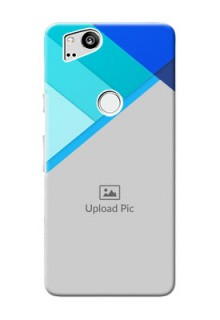 Google Pixel 2 Phone Cases Online: Blue Abstract Cover Design